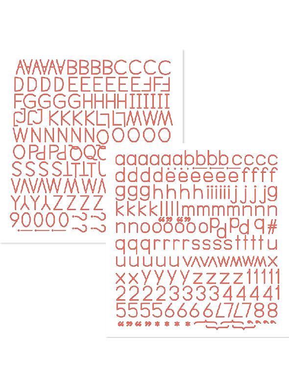 Happy Life Peach Sunrise Alphabet Stickers